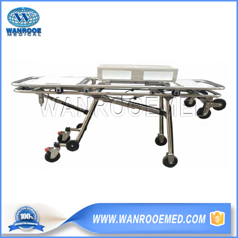 Adjustable Ambulance Stretcher, Folding Ambulance Stretcher, Emergency Ambulance Stretcher, Aluminum Alloy Stretcher, Ambulance Stretcher Trolley