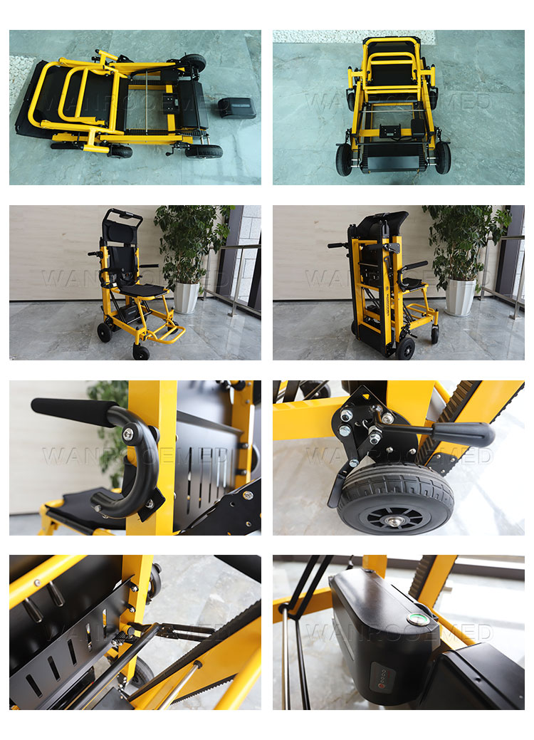 Stair Chair Stretcher, Electric Stair Climbing Chair, Stair Climbing Wheelchair, Hospital Stair Chair Stretcher, Electric Evacuation Chair
