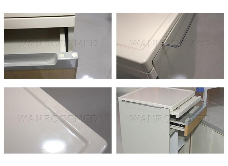 ABS Bedside Cabinet, Medical Bedside Cabinet, Bedside Locker, Hospital ABS Bedside Locker
