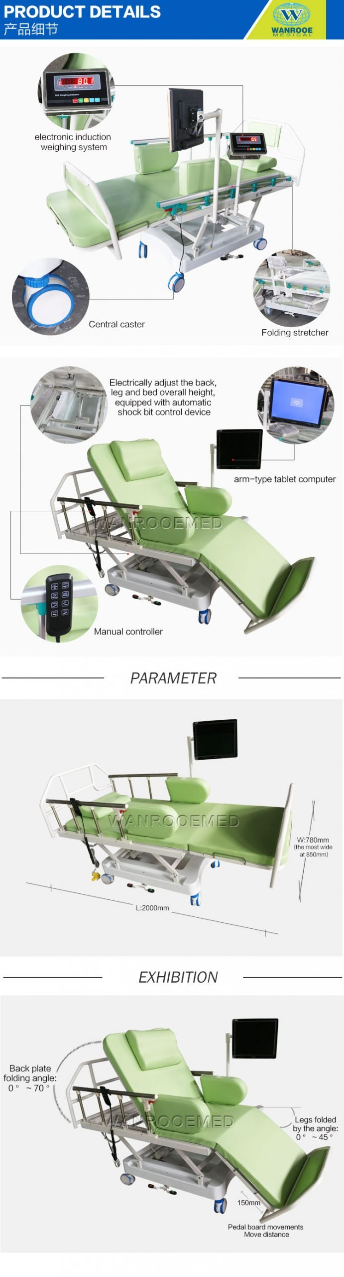Dialysis Chair, Medical Blood Donation Chair, Hospital Blood Chair, Adjustable Blood Dialysis Chair