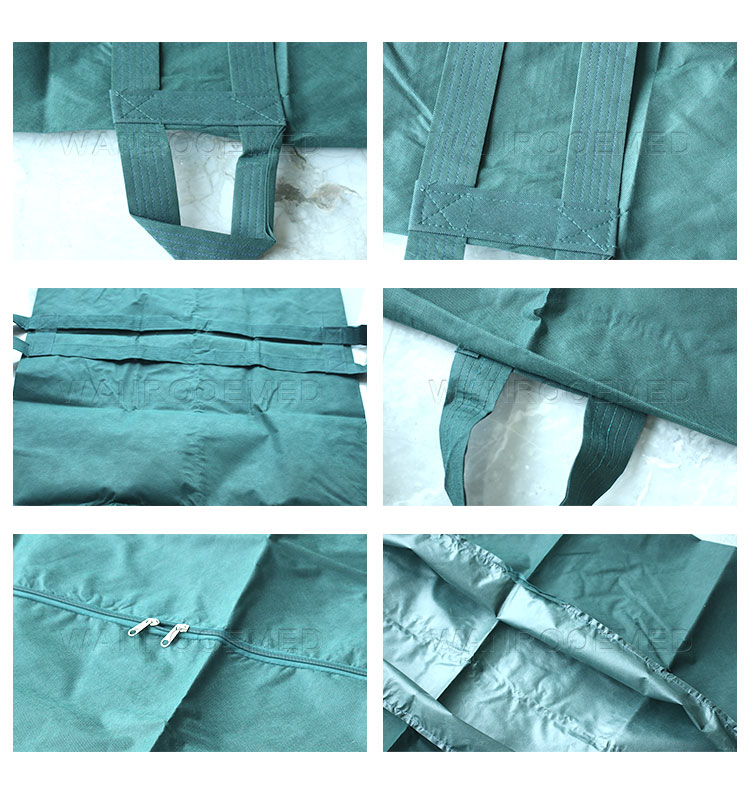 Corpse Body Bag, Non-woven Fabrics Body Bag, Funeral Body Bag, 6 Handles Corpse Bag