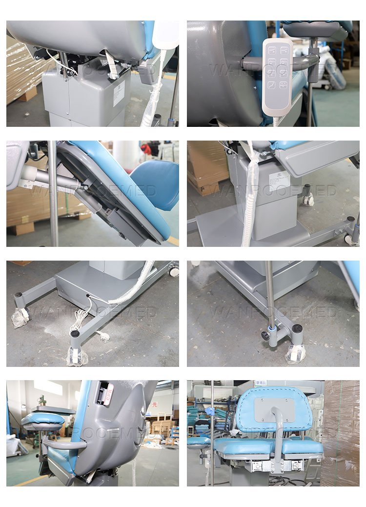 Blood Collection Chair, Electric Blood Donation Chair, Medical Adjustable Blood Collection Chair, Medical Dialysis Chair