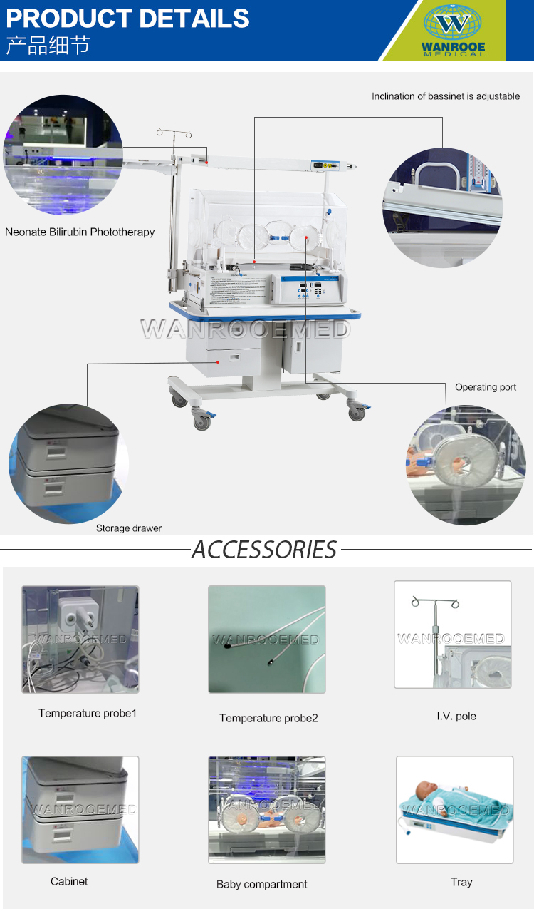 Baby Incubator, Transport Infant Incubator, ICU Infant Incubator, Medical Radiant Warmer, Portable Baby Warmer