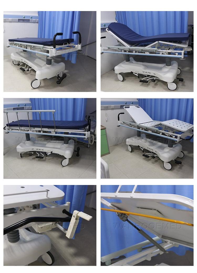 transfer stretcher trolley, hydraulic stretcher lift, hydraulic stretcher, hospital stretcher, hospital bed stretcher, hospital stretcher for sale